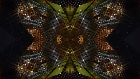 Kaleidoscope tunnel channel X pattern,sci-fi fantasy style Stock Video Footage