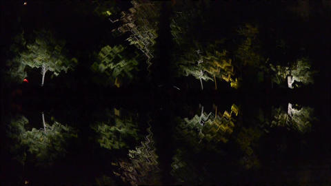 Woods ripples reflection in calm water of lake.Such as... Stock Video Footage