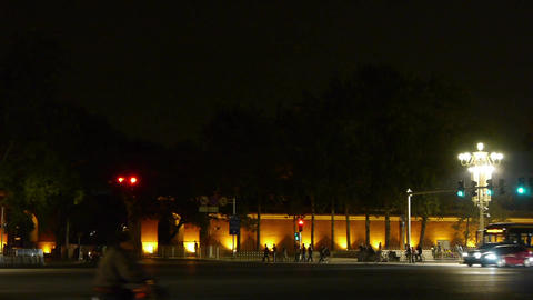 Bustling Chang'an Street night scene,Beijing Tiananmen... Stock Video Footage