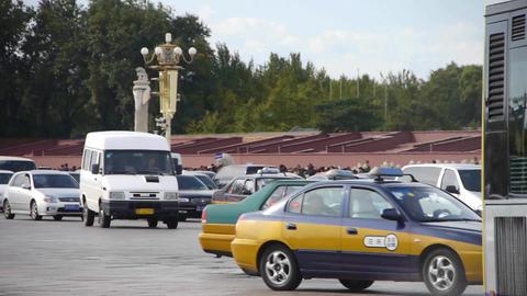 Chang'an Street traffic timelapse,Beijing Tiananmen... Stock Video Footage