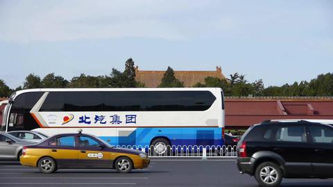 Busy Chang'an Street car traffic timelapse,near Beijing... Stock Video Footage