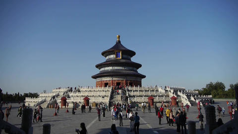 Temple of Heaven in Beijing.China's royal ancient architecture Footage