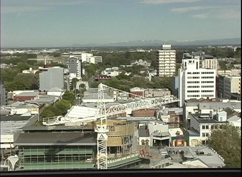 A birds-eye view of Christchurch, New Zealand Stock Video Footage