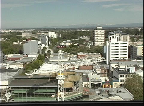 A birds-eye view of Christchurch, New Zealand Footage