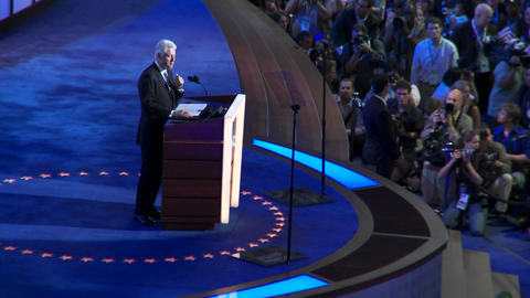 Bill Clinton gives delivers a pro barack obama speech at the 2008 Democratic National Convention in Footage