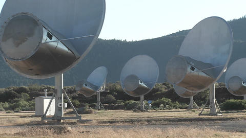 Satellites search for extra terrestrial life Stock Video Footage