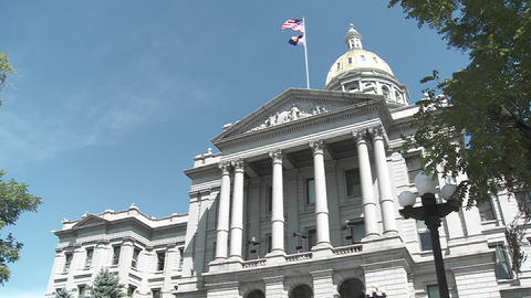 The State Capital building in Denver Colorado ภาพวิดีโอ