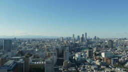 Tokyo cityscape on a clear Winter day, Tokyo, Japan Footage