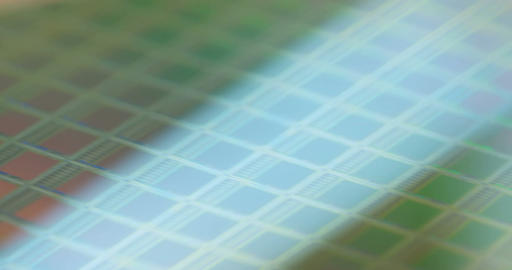 Macro tracking shot of a silicon wafer Footage