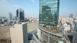 View of Osaka cityscape, Osaka, Japan Filmmaterial