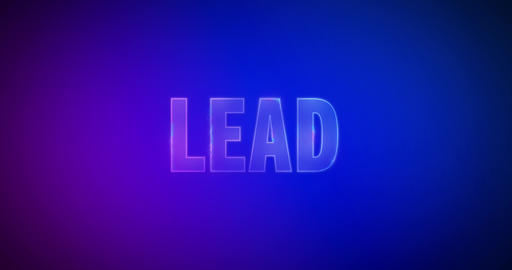 Lead. Electric lightning words. Logotype Animation