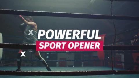Glitch Sport Opener Premiere Proテンプレート