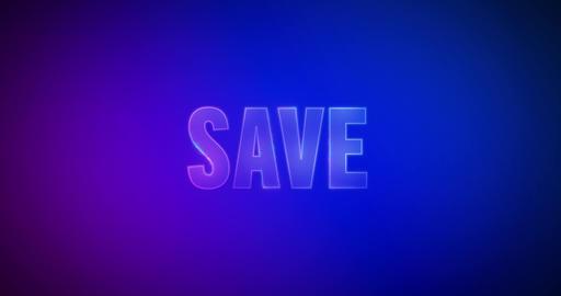 Save. Electric lightning words. Logotype Animation
