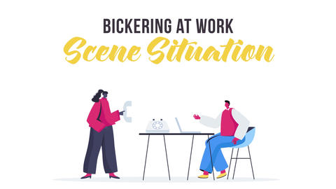 Bickering at work - Scene Situation Plantilla de After Effects