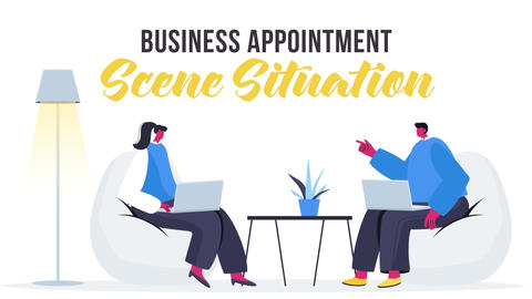 Business appointment - Scene Situation After Effects Template