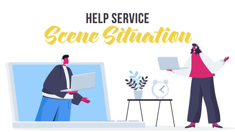 Help service - Scene Situation After Effects Template