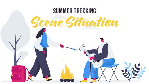 Summer trekking - Scene Situation Plantilla de After Effects