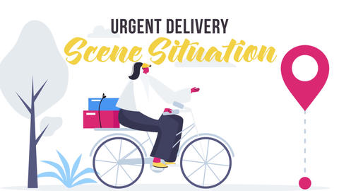 Urgent delivery - Scene Situation After Effects Template