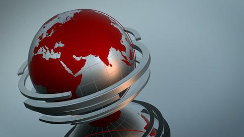 Clean Globe 3D Loop Animation
