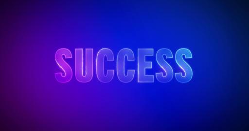 Success. Electric lightning words. Logotype Animation