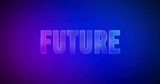 Future. Electric lightning words. Logotype Animation