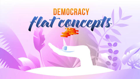 Democracy - Flat Concept After Effects Template