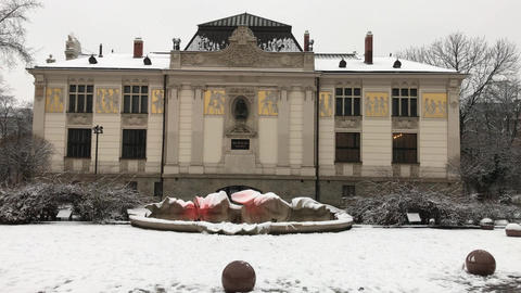 Krakow, Poland, A house covered in snow Live Action