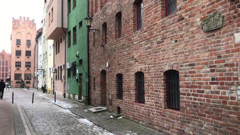 Gdansk, Poland, A brick building Live Action