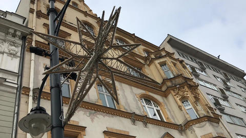 Lodz, Poland, A church with a clock on the side of a building Live Action