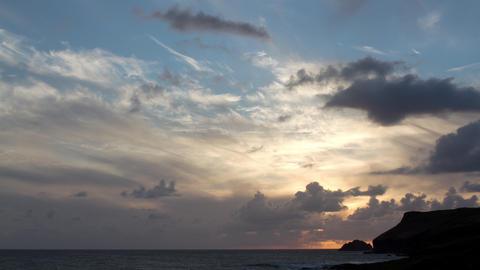 Forwards and backwards timelapse of tide, Polzeath, Cornwall, England Live Action