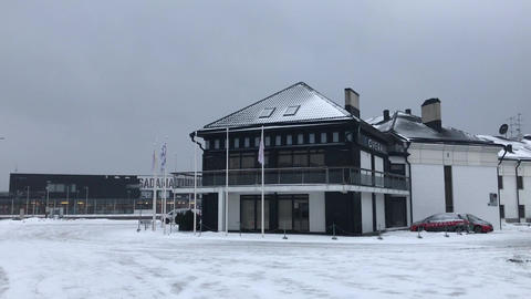 Tallinn, Estonia, A building covered in snow Live Action