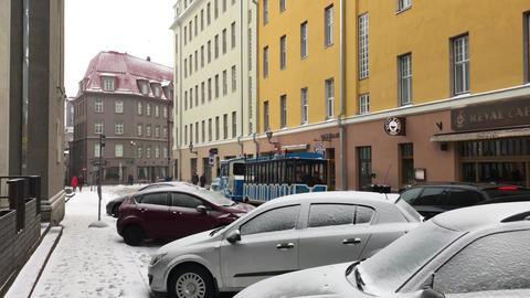 Tallinn, Estonia, A car parked on a city street Live Action
