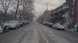 Residential street view while driving Live Action