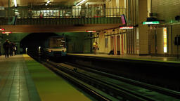 the train leaving Rosemont metro station Live Action