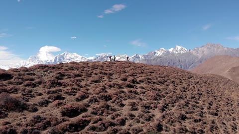 Mountain biking in Nepal. Annapurna Circuit Live Action