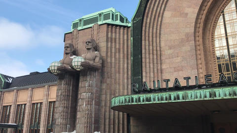 Helsinki, Finland, A large brick building Live Action
