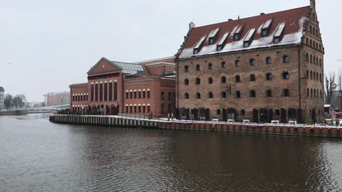 Gdansk, Poland, A bridge over a body of water Live Action