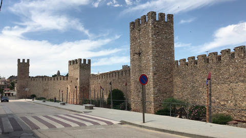 Montblanc, Spain, A castle on the side of a road Live Action