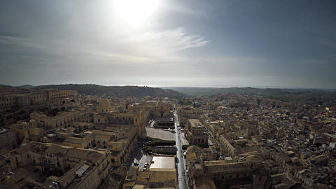 Aerial Old Town of Italy 1 Footage