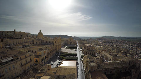 Aerial Old Town of Italy 2 Footage