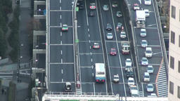 Japanese highway from above Footage