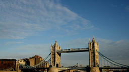 Tower bridge and sky, London Footage