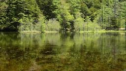 Myojin-ike Lake, Kamikochi, Nagano Prefecture, Japan Footage