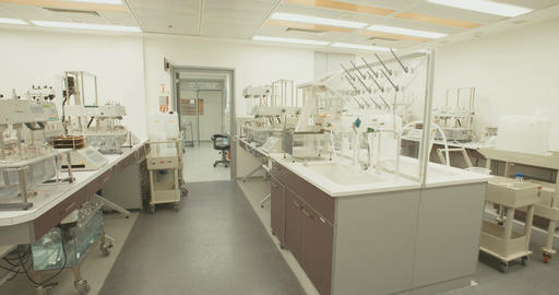 Mass spectrometers in a pharmaceutical company laboratory Live Action