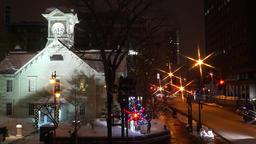 Sapporo Clock Tower, Sapporo City, Hokkaido Prefecture, Japan Footage