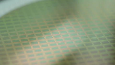Macro shot of a silicon wafer Footage