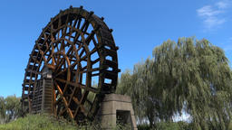 Waterwheel, Shiga Prefecture Footage