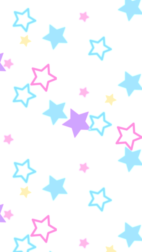Background pattern of neon colored star shaped objects are bouncing Animation