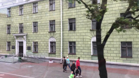 Minsk, Belarus, A person standing in front of a building Live Action