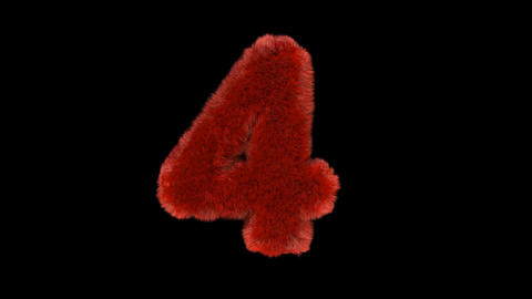 Fluffy hair fur text typography with alpha channel 4 Animation
